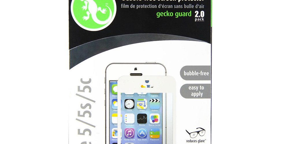 Gecko Touch 5 Screen Guards, Bubble Free White