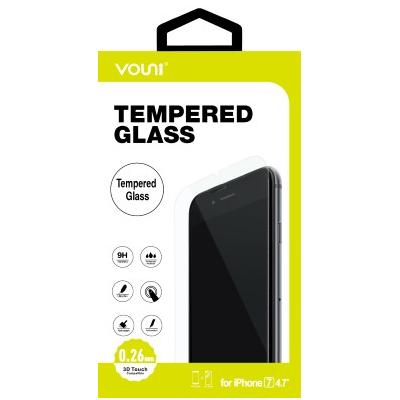 Vouni iPhone 8/7 Tempered Glass, Full Screen Black