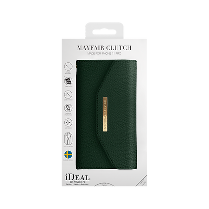 iDeal Of Sweden Mayfair Clutch iPhone 11 Pro, Green