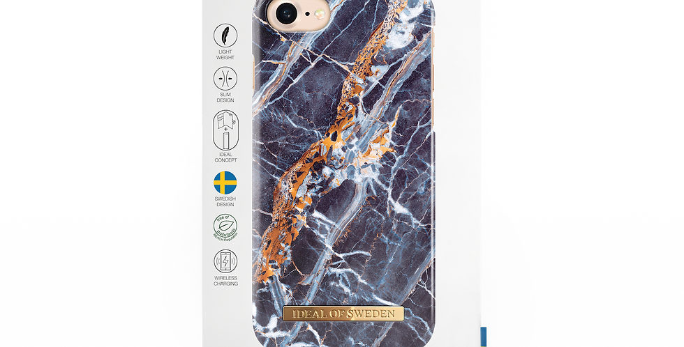 iDeal Of Sweden iPhone 8/7/6/6s Fashion Case, Midnight Blue Marble
