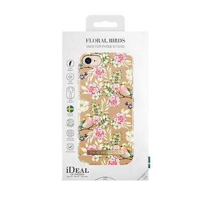 iDeal Of Sweden Fashion Case iPhone 8/7/6/6S, Champagne Birds