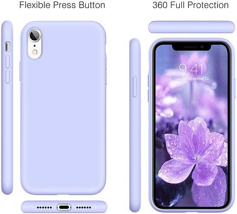 Devia iPhone XR Ultra-Thin Silicone Case, Purple