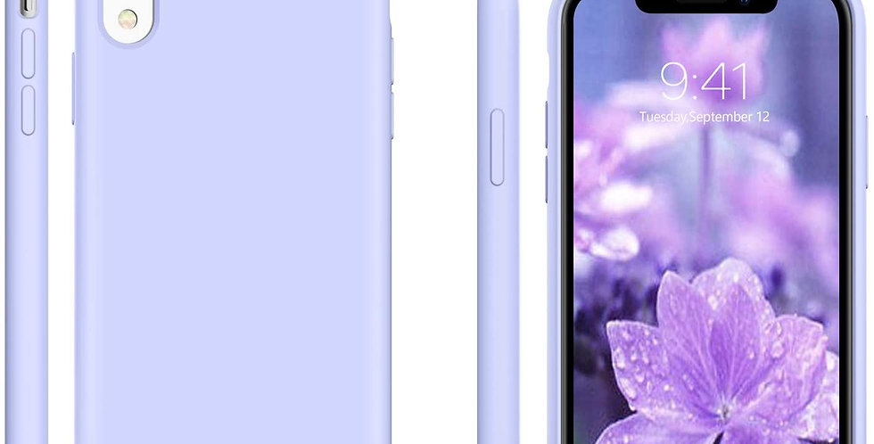 Devia iPhone XR Ultra-Thin Silicone Case, Purple