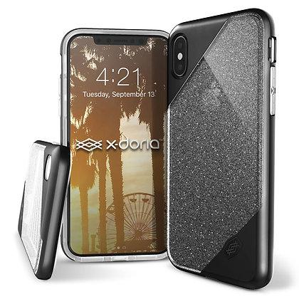 X-Doria iPhone X Revel Lux, Black Glitter