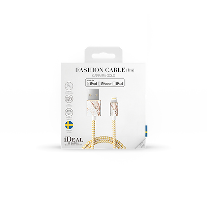 iDeal Of Sweden Fashion Lightning Cable, 1M Carrara Gold