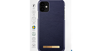 iDeal Of Sweden iPhone 11 Fashion Case Saffiano, Navy