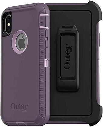OtterBox Defender Series iPhone X, Purple Nebula (Orchid/Purple)