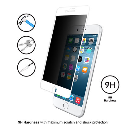 Vouni iPhone 8/7 Tempered Glass, Full Privacy White