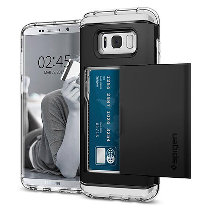 Spigen Samsung Galaxy S8 Crystal Wallet, Black