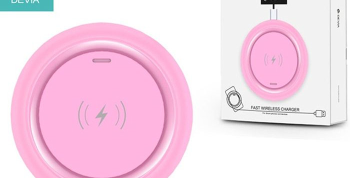 Devia Wireless Charger Non-Pole Inductive Fast, Pink