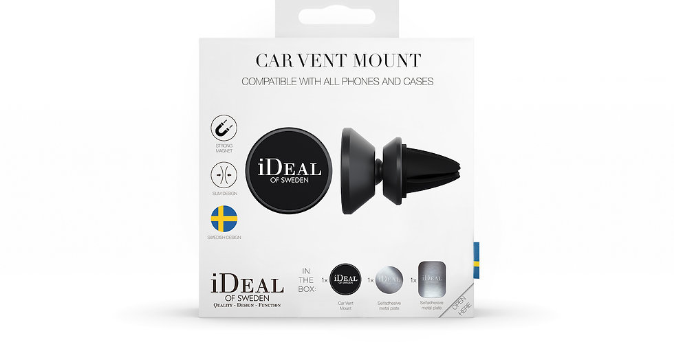 iDeal Of Sweden Universal 360 Vent Mount, Black