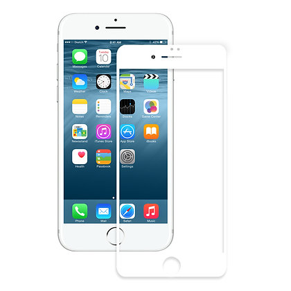 MRYES iPhone 8/7 Tempered Glass, Full Screen White
