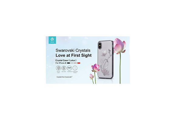 Devia iPhone X Crystal Lotus Case, Silver