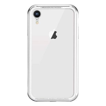 SwitchEasy iPhone XR iGlass Aluminum+Glass+TPU Case, Silver