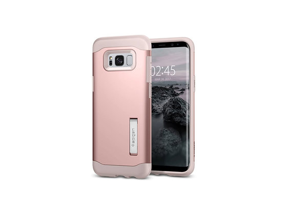 Spigen Samsung Galaxy S8 Plus Slim Armor, Rose Gold