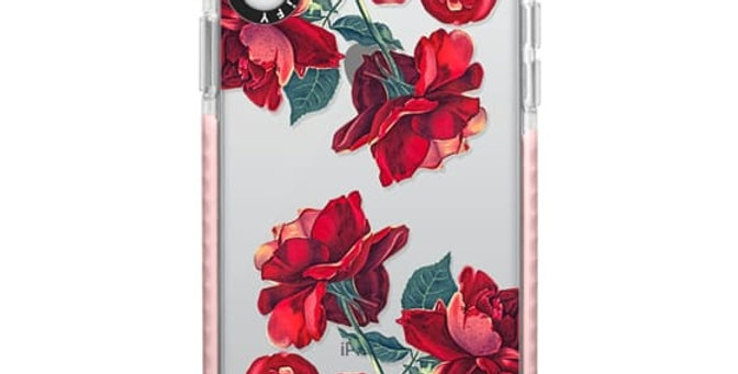 Casetify iPhone XR Impact Case, Frost Red Roses