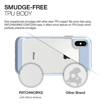 Patchworks iPhone X Contour, Blue
