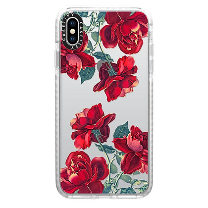 Casetify iPhone X/Xs Impact Case, Frost Red Roses