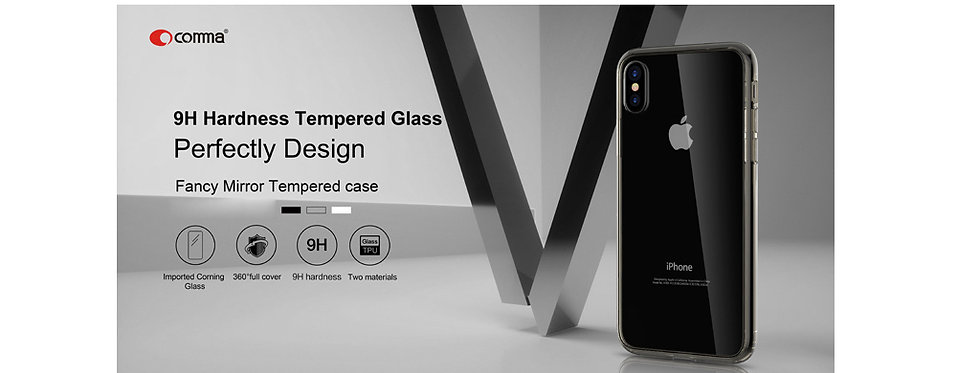 Comma iPhone X/Xs Fancy Mirror Case, Black