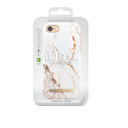 iDeal Of Sweden Fashion Case iPhone 8/7/6/6s, Carrarra Gold