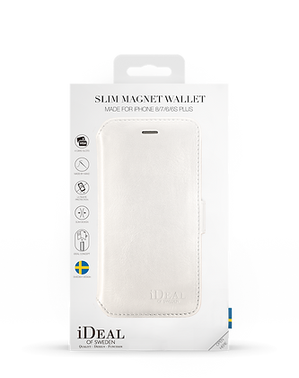 iDeal Of Sweden Slim Magnet Wallet iPhone 8/7/6/6s Plus, White