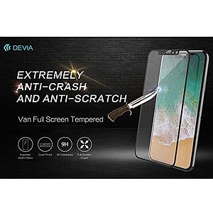 Devia iPhone 8 Tempered Glass, Full Anti-Glare White