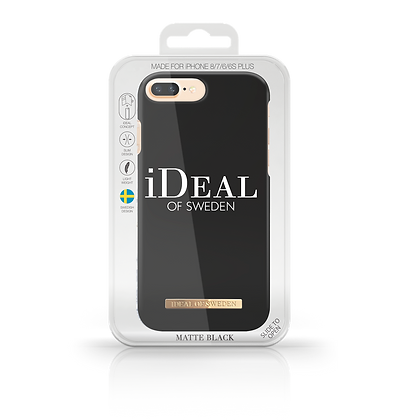 iDeal Of Sweden Matte Black  iPhone 8/7/6/6s Plus Case