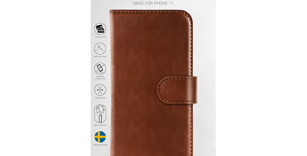 iDeal Of Sweden iPhone 11 Magnet Wallet Plus, Brown