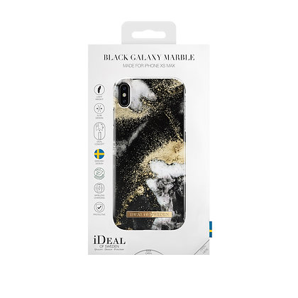 iDeal Of Sweden Fashion Case iPhone Xs Max, Black Galaxy Marble