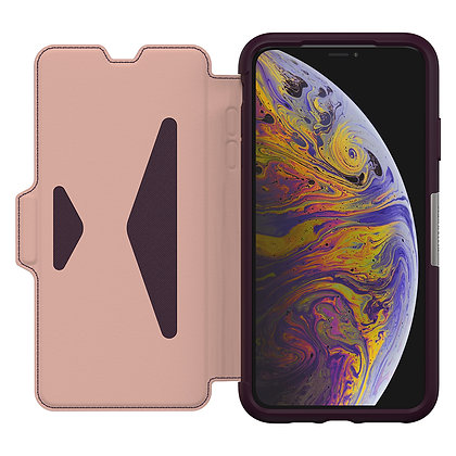 OtterBox Strada Series iPhone Xs Max, Royal Blush (Bloom/Rose)
