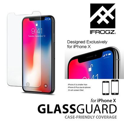 iFrogz GlassGuard Screen Protector for iPhone X/Xs