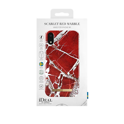iDeal Of Sweden Fashion Case iPhone XR, Scarlet Red Marble