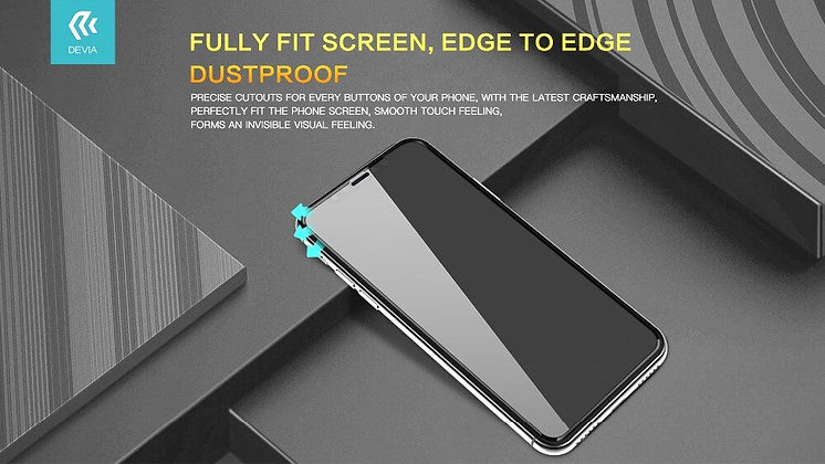 Devia iPhone 11 Tempered Glass,  Curved Black