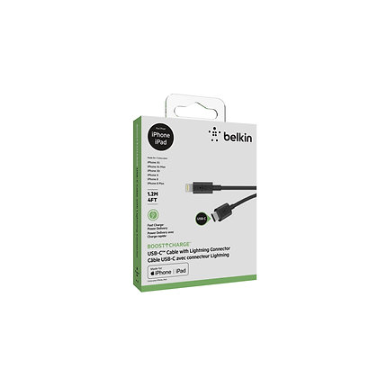 Belkin USB-C to Lightning Mixit Up Chargesync Cable, Black