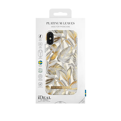 iDeal Of Sweden Fashion Case 2019 iPhone X/Xs, Platinum Leaves