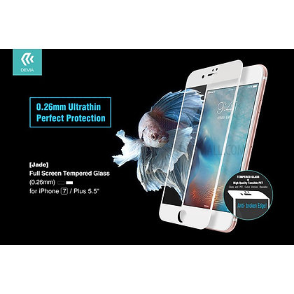 Devia iPhone 7 Screen Protector, 3D White