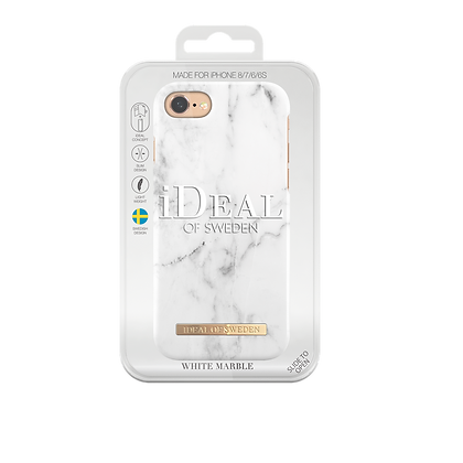 iDeal Of Sweden Fashion Case iPhone 8/7/6/6s, White Marble