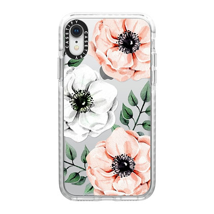 Casetify iPhone XR Impact Case, Frost Watercolor Anemones