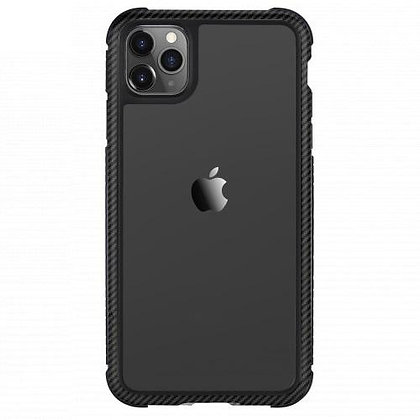 SwitchEasy iPhone 11 Pro Max Glass Rebel Glass+TPU+Alu Case, Carbon Black