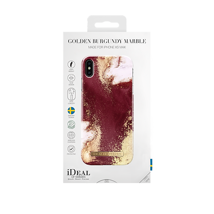 iDeal Of Sweden Fashion Case iPhone Xs Max, Golden Burgundy Marble