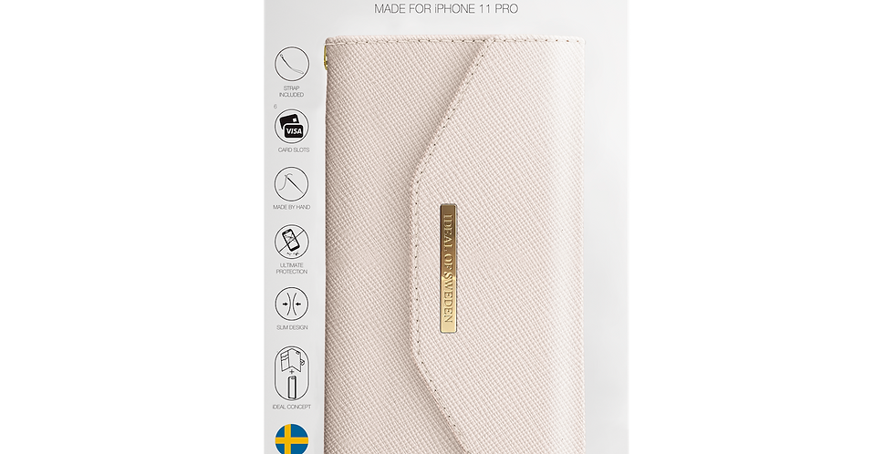 iDeal Of Sweden Mayfair Clutch iPhone 11 Pro, Beige