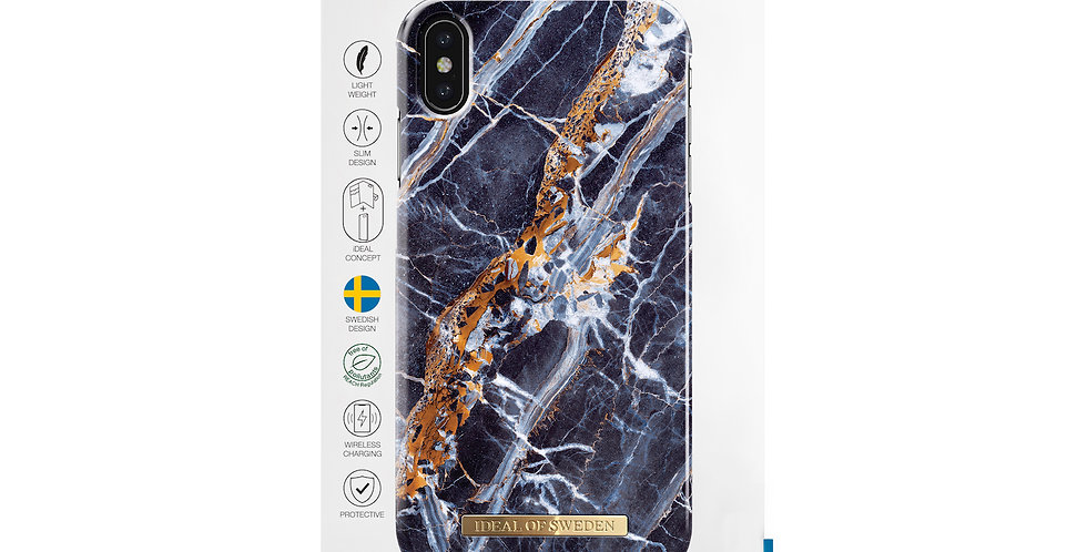 iDeal Of Sweden iPhone Xs Max Fashion Case, Midnight Blue Marble