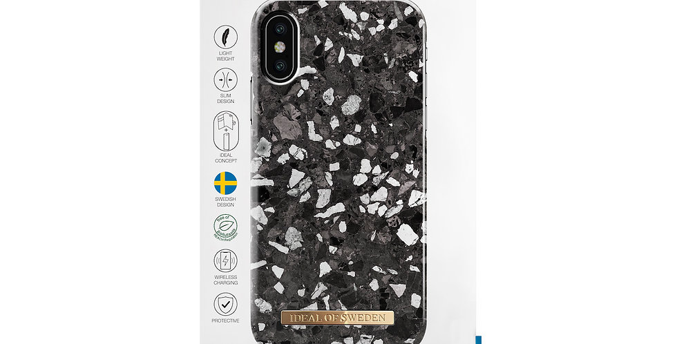 iDeal Of Sweden iPhone X/Xs Fashion Case, Midnight Terrazzo
