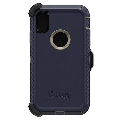 OtterBox Defender Series iPhone XR, Dark Lake (Chinchilla/Blues)