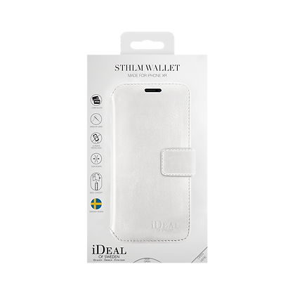 iDeal Of Sweden STHLM Wallet iPhone XR, White