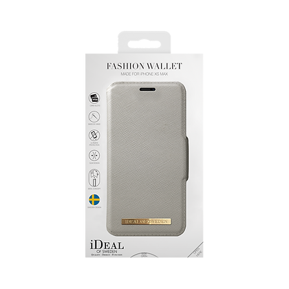 iDeal Of Sweden Fashion Wallet iPhone Xs Max, Light Gray