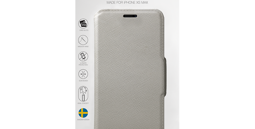 iDeal Of Sweden iPhone Xs Max Fashion Wallet, Light Gray