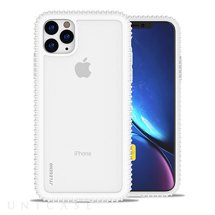 JTLegend iPhone 11 Pro Wavyee Case, Cloud White