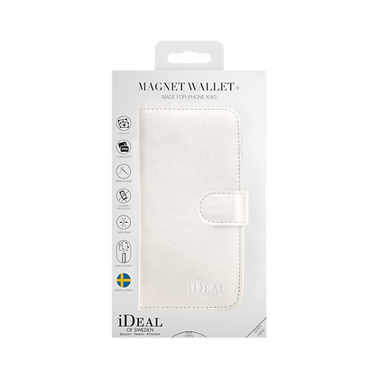 iDeal Of Sweden Magnet Wallet Plus iPhone X/XS, White