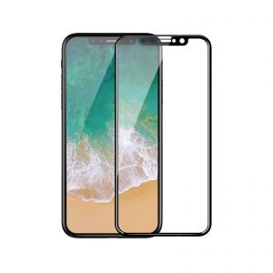 Vouni iPhone X/Xs Tempered Glass,3D Soft Edge Full Screen Black